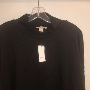 Cowl neck hoodless sweatshirt